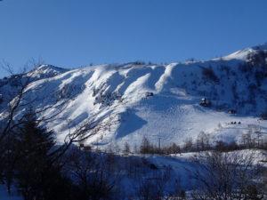 青葉山ゲレンデ遠景。