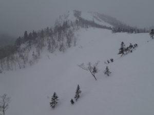 深雪が楽しめた「本白根の壁」。