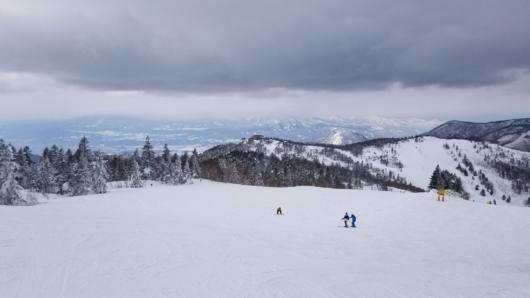寺小屋スキー場からの眺望。