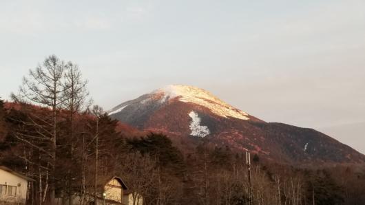 しかし夕方には天候は回復。蓼科山もその姿を見せてくれた。