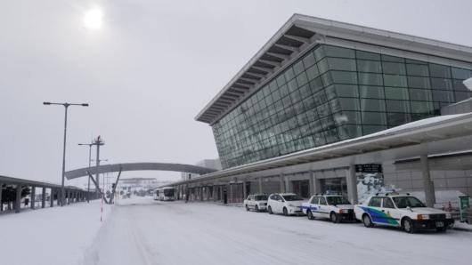 到着時の旭川空港。