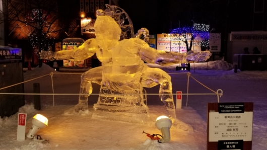 旭川冬まつりの見事な氷像。