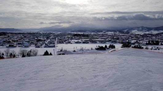 ゲレンデトップからの眺望。