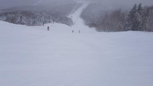 奥志賀第2エキスパート。今日は圧雪側を楽しむ。
