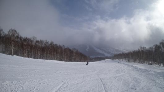 天候回復し、快走バーンとなった白樺コース。